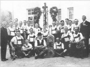 Der Musikverein Burghaig im Jahre 1934